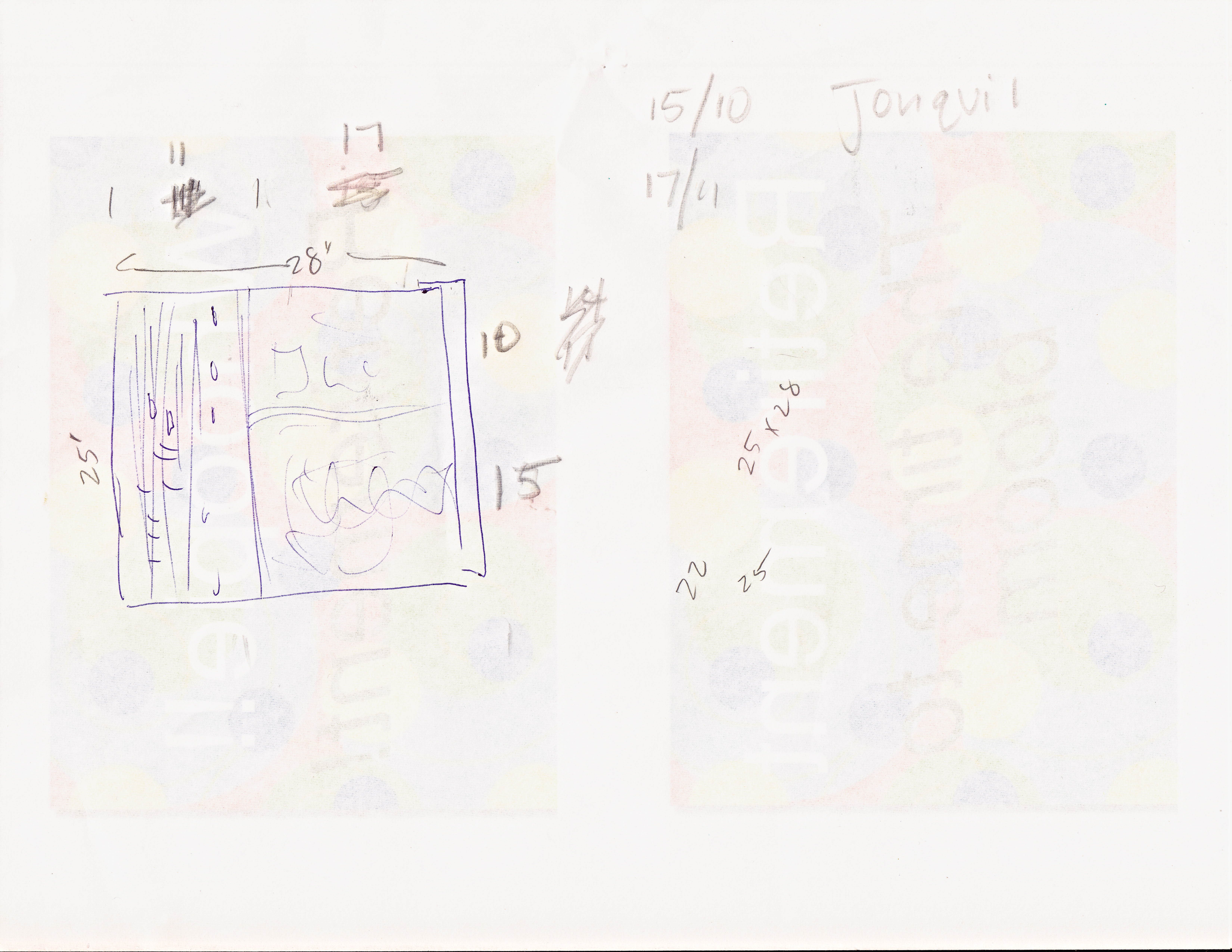 Jonquils sketch