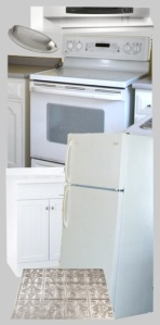 Gray and white appliances