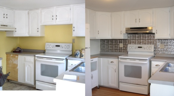 kitchen before and after collage