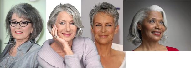 Gray haired women collage; janebalshaw.com
