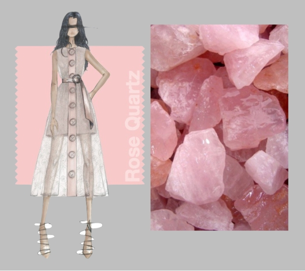 rose quartz collage gray