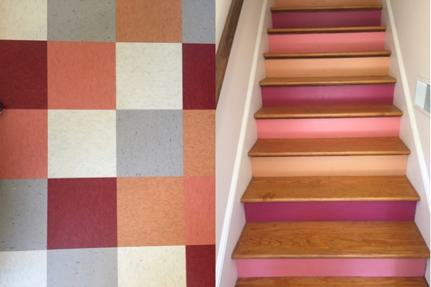 Floor and stairs; janebalshaw studios