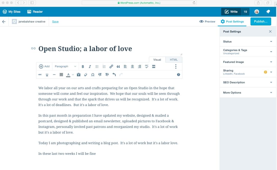 wordpress screen shot